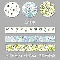 Odissys 3枚/箱1.5センチメートル* 5メートル新鮮な花模様の和紙テープDIY装飾スクラップブッキングプランナーマスキングテープの接着剤カワイイ文具 [4]