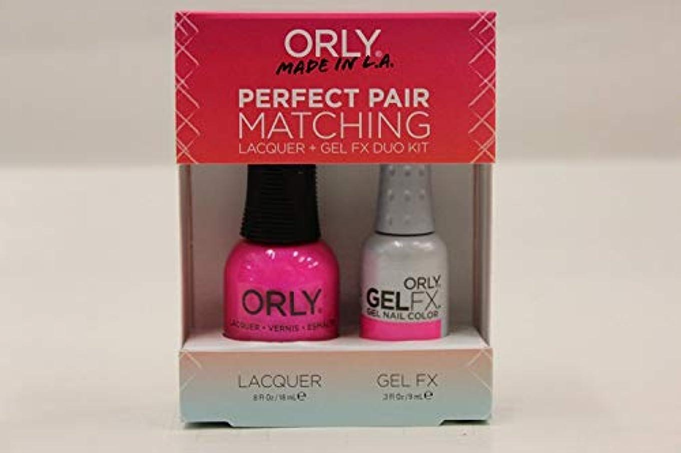 見習いジャンクション精神医学Orly Nail Lacquer + Gel FX - Perfect Pair Matching DUO - Oh Cabana Boy