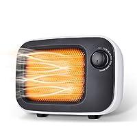 セラミックヒーター,WaVes jpスマートデスクトップミニヒーター、高速加熱、2つのモード、3秒の急速加熱セラミックヒーター適用家庭、オフィス