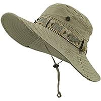 LETHMIK つば広 折りたたみ UVカット帽子 オールシーズン使える ブーニーハット サファリ アウトドア ハイキング キャンプ 登山 釣り フィッシング 作業 ハット 男女兼用