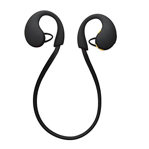 『LEVIN Bluetooth4.1 イヤホン 防水&防汗(IP66防水等級) 高音質 スポーツ仕様 ワイヤレスヘッドフォン (オレンジ&ブラック)』の3枚目の画像