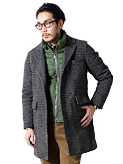 Patchwork Chesterfield Coat 38-19-0042-803: Grey
