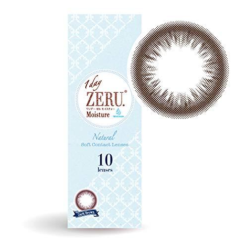 カラコン ワンデー 度あり 度なし 1箱10枚 1day ZERU.ワンデーゼルモイスチャー (ダークブラウン, -2....