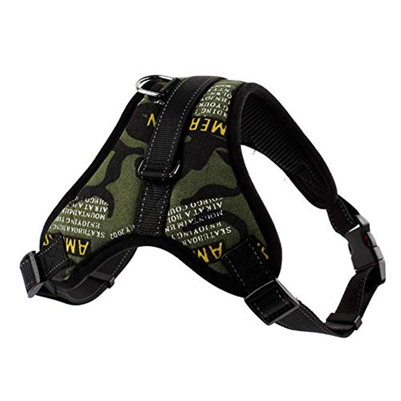ゆりテンポ探検Jtydj 中型および大型犬用の色を調節可能なベストに装着および取り外しが容易なアップグレードされたプルなしの犬用ハーネス (色 : Blakc)