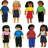 Get Ready Kids Multicultural Dolls, Set of 8 ドール 人形 フィギュア(並行輸入)