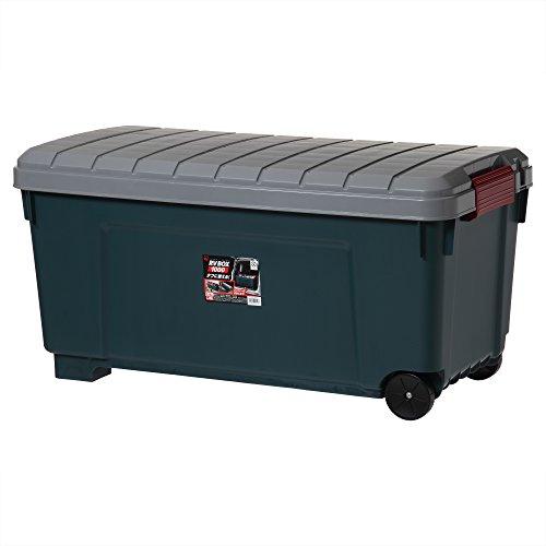 アイリスオーヤマ ボックス RVBOX 1000 グレー/ダークグリーン 幅100×奥行50×高さ50cm