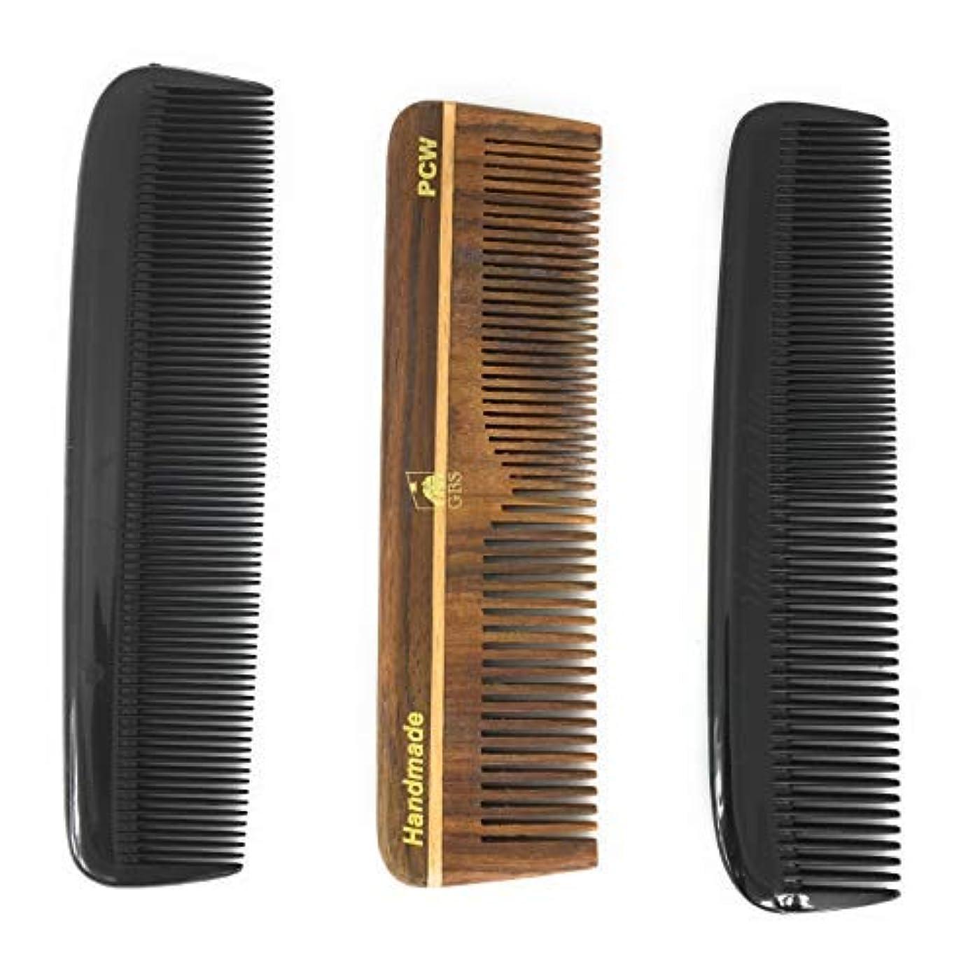 寸法件名緩やかなGBS Hair Comb Variety 3 pack - 5