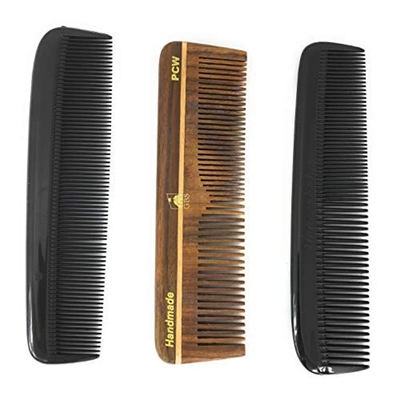 アセゴシップ敷居GBS Hair Comb Variety 3 pack - 5