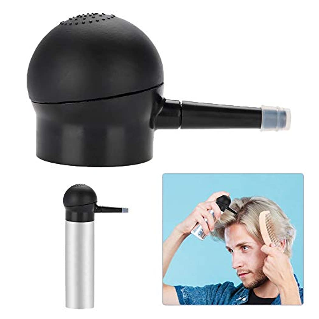 洗うスリラー寛解抜け毛対策コンシーラーアプリケーター、増毛ポンプ付きヘアーファイバーアプリケーター、増粘剤ケラチンヘアパウダー、インスタント簡単にインストールと削除