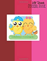 My Blank Sticker Book: Album of My Favorite Sticker: A Blank Permanent and Letter Size Sticker Book for Create Ideas Girls and Boys (Activity Book for Kids Ages 6-10 Years Old)