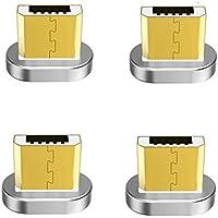 Zrse(ザスイ)【4個セット】第五世代 マグネット式 Micro 磁石 親端子 防塵機能 磁気吸収 Android各種スマホ/タブレット対応 磁気ヘッド