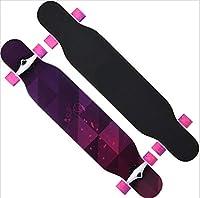 スケートボード118 * 23 * 13センチメープル滑り止め大人ティーンエイジャー子供子供女の子男の子完全ストリートステップガーデンスクールデッキ4クリアpuホイール