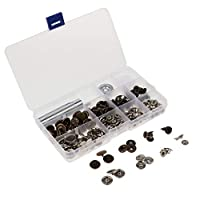 30セット メタル スナップ 固定ツール ハンド マウント ツール スナップボタン 便利 全4サイズ - 15mm