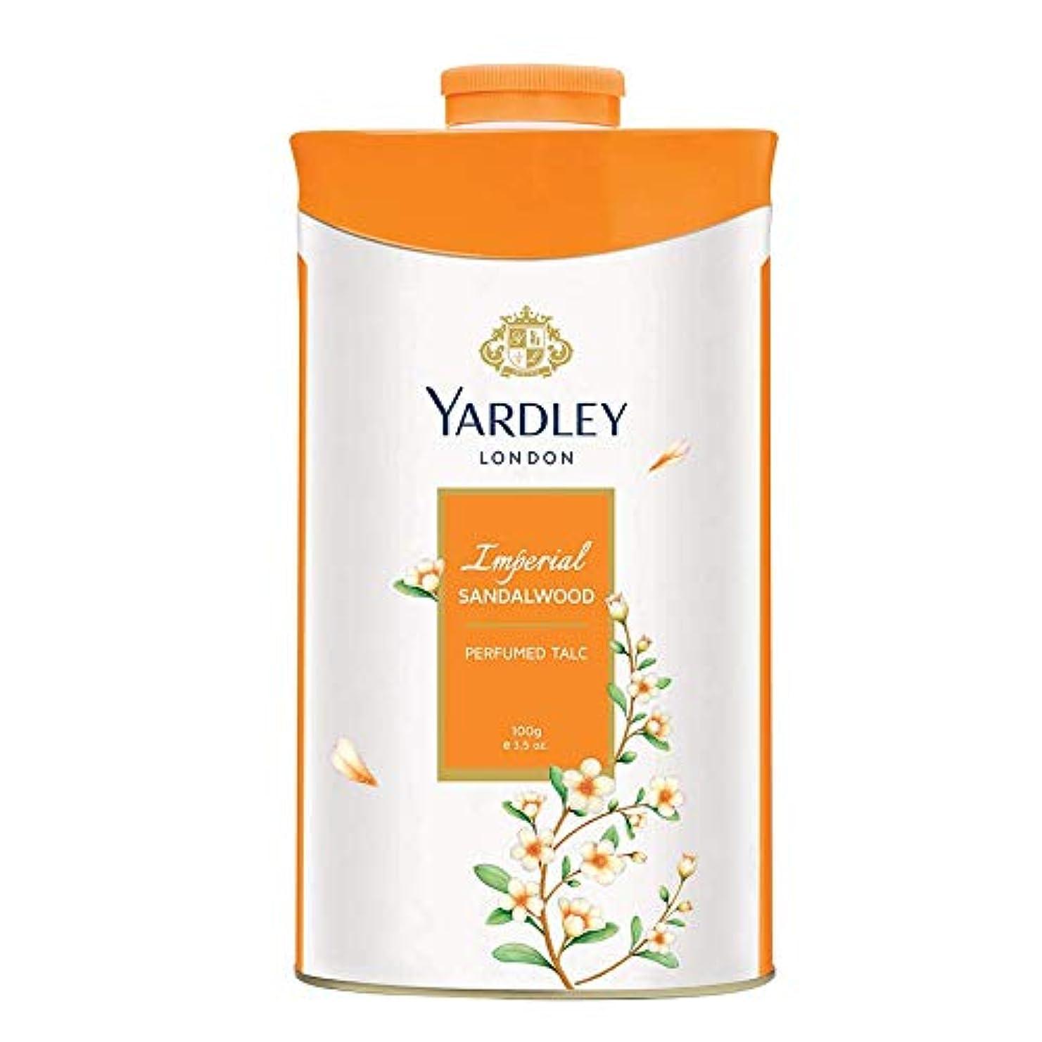 ベースショートカット屋内Yardley London Perfumed Talc Sandalwood 100gヤードレーロンドンパフュームタルクサンダルウッド100グラム