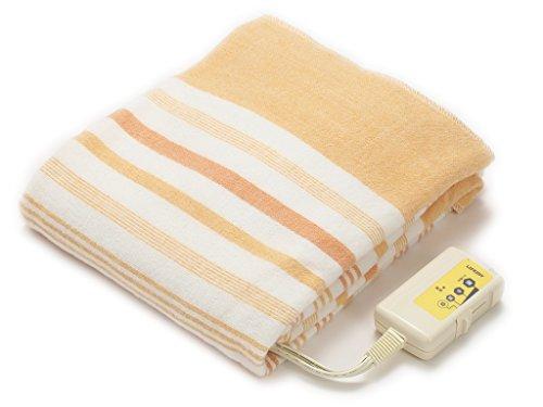 LIFEJOY 日本製 電気毛布 敷き 洗える 省エネ シングル 130cm×80cm オレンジ リバーシブル JBS401