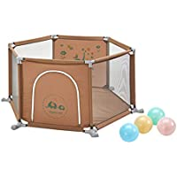 ベビーサークル 赤ちゃん遊び場幼児遊び庭子供用漫画柵家庭用6パネル遊び場室内遊びペンボール (サイズ さいず : 100 balls)