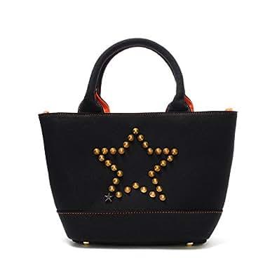 【スターリアン】StarLean★ スタースタッズミニキャンパストートバッグ(BLACK)