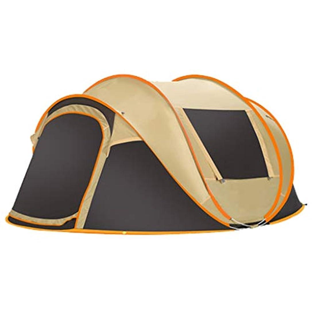 布ギャングスター致死5?8人自動クイックオープン防水日焼け止めポータブル家族キャンプテント簡単にインストールする