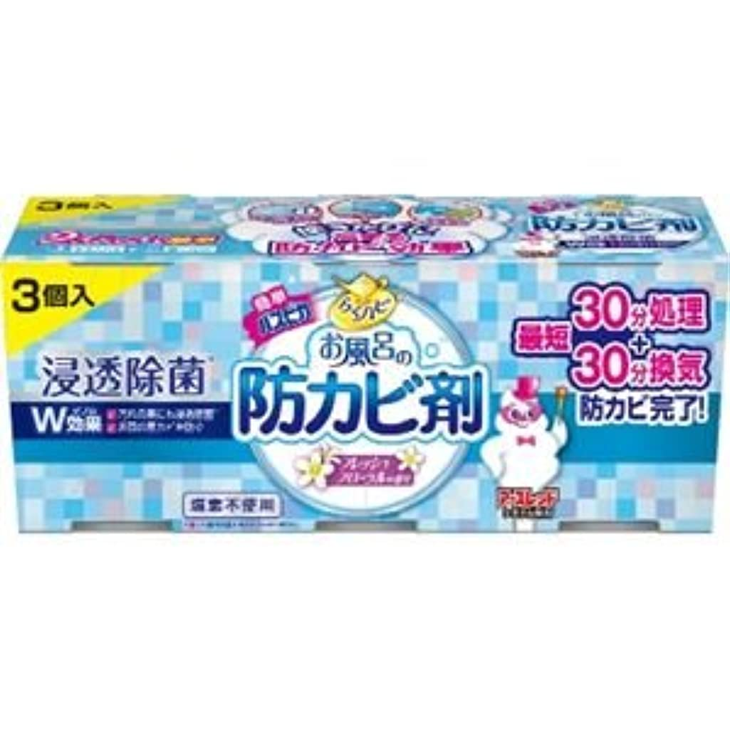 六憂鬱原点(まとめ)アース製薬 らくハピお風呂の防カビ剤フローラル3個パック 【×3点セット】