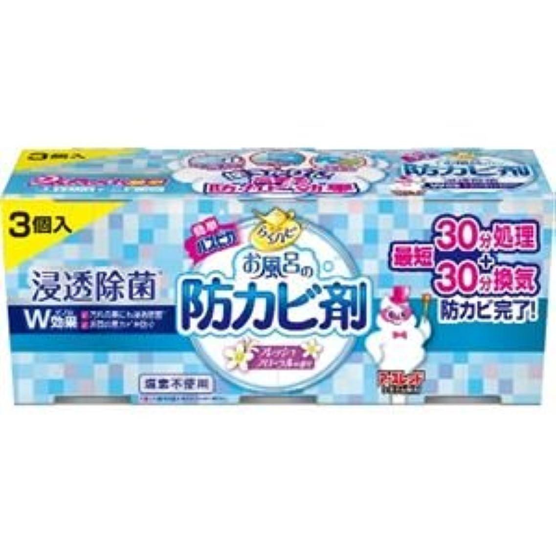 ミス適用する届ける(まとめ)アース製薬 らくハピお風呂の防カビ剤フローラル3個パック 【×3点セット】