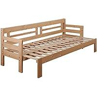 【JAJAN】天然木すのこソファベッド【シオン】本体のみナチュラル[スライド 伸縮式 ソファーベッド]シングルベッド[クーポンで更にお得]