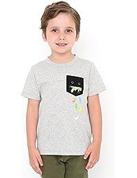 グラニフ(graniph) 【キッズ】ポケットTシャツ(ビューティフルシャドージェリービーンズ)
