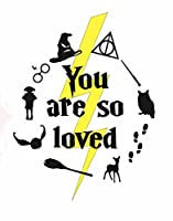 "Popアートプリント~ Inspired By Harry Potterテーマ: You Are So Loved 8""×10"" print ホワイト"