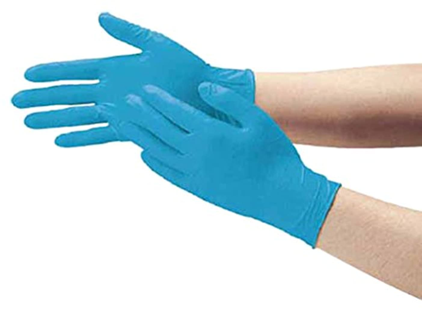 はぁ電球湿度ダンロップ N-211 天然ゴム極うす手袋100枚入 SSブルー N211SSB
