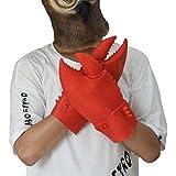 カニの手 手袋 アニマルマスク パーティーマスク 動物マスク パーティーマスク 衣装 雑貨 コスプレグッズ 被り物 忘年会 パーティー グッズ 変装用マスク デラックスな ラテックス 手袋