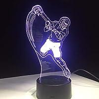 Dtcrzj Aiアイスホッケースポーツモデリング3Dテーブルランプ7色変更LedナイトライトUsb寝室睡眠照明スポーツファンギフト家の装飾