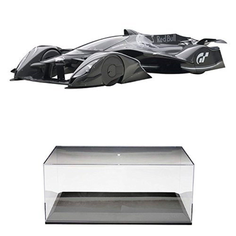 【セット商品】 AUTOart 1/18 レッドブル X2014 ファンカー (ダークシルバー?メタリック) + ディスプレイケース