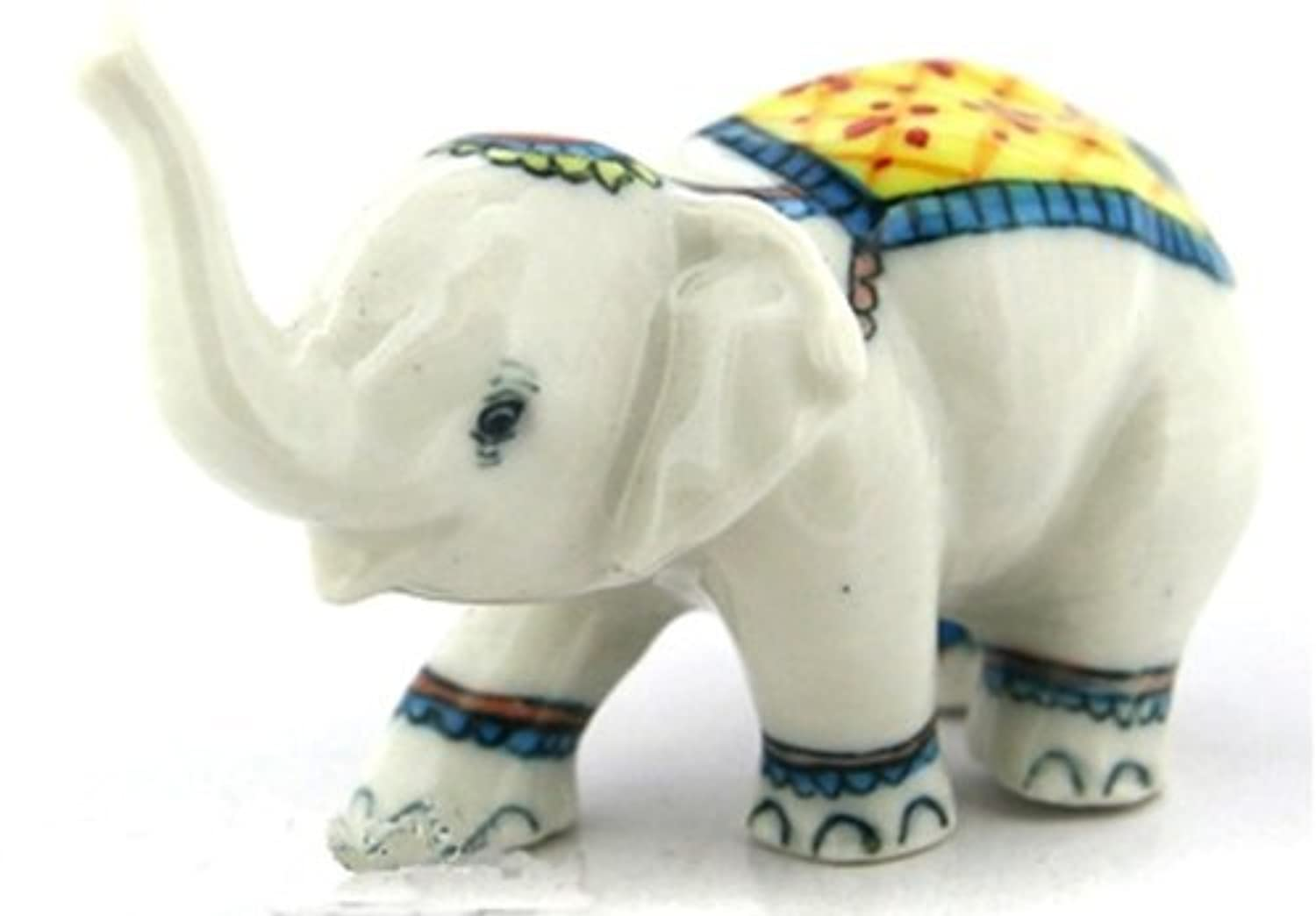 3 D Ceramic Toy Elephant Play Ball No.3 Dollhouse Miniatures Free Ship by ChangThai Design [並行輸入品]