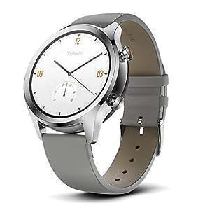 TicWatch C2 スマートウォッチ クラシック Wear OS by Google IP68防汗/防水 GPS搭載 腕時計 iPhone&Android対応 日本語対応 シルバー