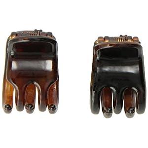 [キャラバン] Caravan ヘアアクセサリー ミニ べっ甲製 バンスクリップ ポニーテールまたは髪の毛の一部を楽々ホールド フランス製 252-2