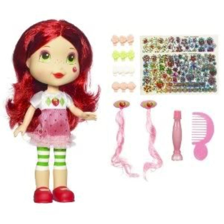 Toy / Game Strawberry Shortcake Sweet Surprise人形メイク、ヘア拡張機能で& Funステッカーアクセサリー