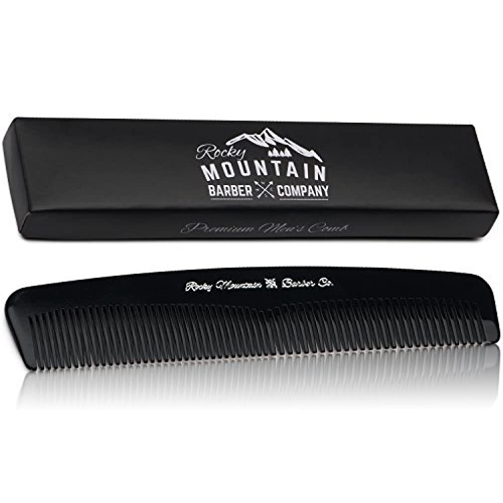 チョップ失望ユニークなMen's Hair Comb ? Plastic Modern Fine and Medium Tooth Comb Handmade for Head Hair, Beard,  Mustache - No Snag...