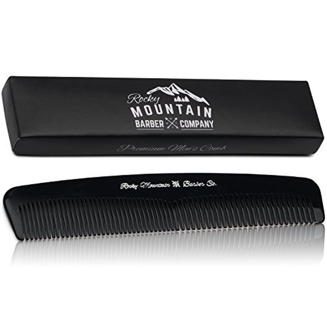 Men's Hair Comb ? Plastic Modern Fine and Medium Tooth Comb Handmade for Head Hair, Beard,  Mustache - No Snag...