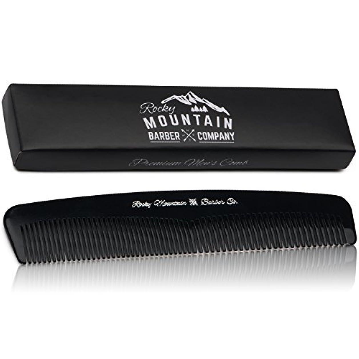 イブスローガン思われるMen's Hair Comb ? Plastic Modern Fine and Medium Tooth Comb Handmade for Head Hair, Beard,  Mustache - No Snag...
