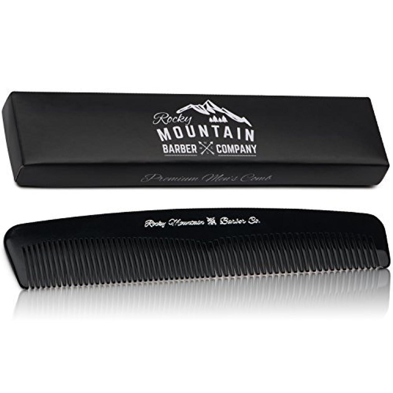 ビジュアル型やけどMen's Hair Comb ? Plastic Modern Fine and Medium Tooth Comb Handmade for Head Hair, Beard,  Mustache - No Snag...