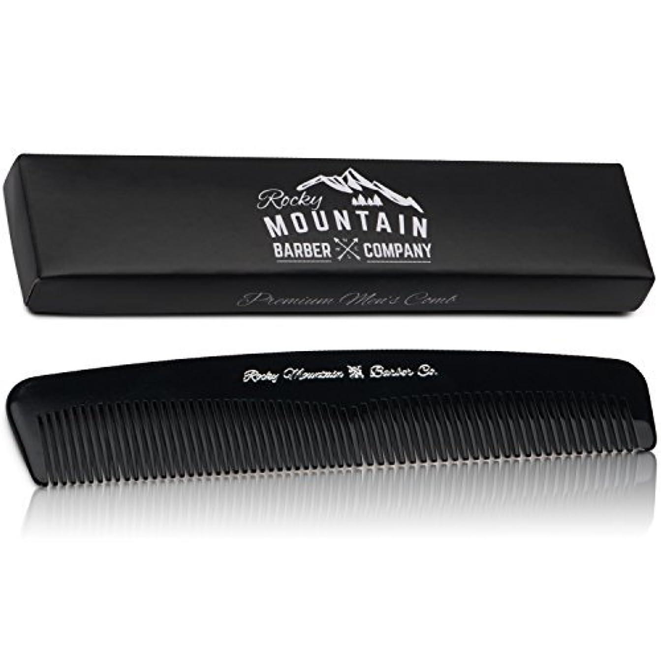 かなりマークダウン後ろにMen's Hair Comb ? Plastic Modern Fine and Medium Tooth Comb Handmade for Head Hair, Beard,  Mustache - No Snag...