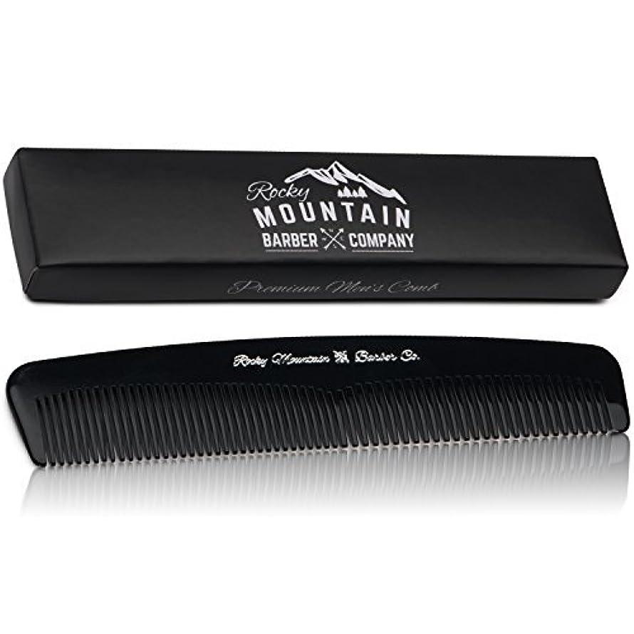 行商人チューブ貢献Men's Hair Comb ? Plastic Modern Fine and Medium Tooth Comb Handmade for Head Hair, Beard,  Mustache - No Snag...