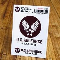 ステッカーセット US AIR FORCE アメリカ空軍 ブラウン_SC-AFS04-GEN