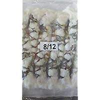 頭無8-12尾付伸ばし海老(ブラックタイガー) 10匹(1匹約30g)天ぷら、海老フライ等 特大 冷凍