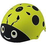 VORCOOL ヘルメット 子供 キッズ 幼児 サイクリングヘルメット バイクヘルメットヘッド 軽量  可愛い スポーツヘルメット スキー 登山 バイク 自転車 サイクリング スケート用(ライトグリーンレディバグ)