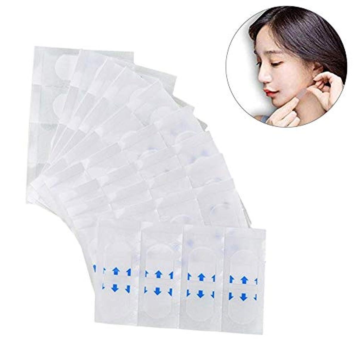 エンドテーブル曲げるフラグラントメーキャップツール、メイクアップ用透明テープ、顔のためのテープ、顔のステッカー、顎のリフト美容ツールの目に見えないステッカー, 40PCS/PACK