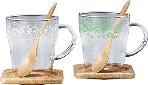 東洋佐々木ガラス マグカップ ペア 耐熱 エレガントギフト ティータイム 日本製 食洗機対応 330ml 2個セット G805-H01