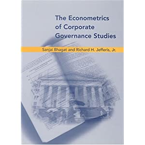 The Econometrics of Corporate Governance Studies (The MIT Press)