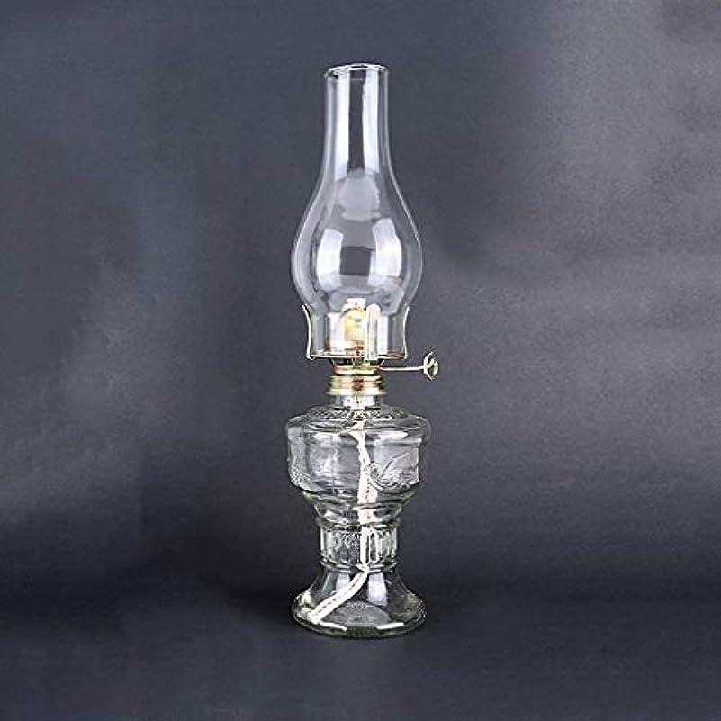 モトリースポークスマン病な石油ランプ煙突ガラスビンテージランタンレトロキャンプライト家の装飾写真の小道具 (Color : Clear)