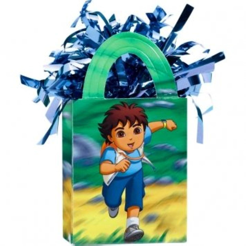 Go Diego Go 。Adventure誕生日パーティーミニトートバッグバルーン重量装飾、プラスチック箔、5オンス