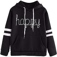 Gillberry Women's Applique Long Sleeve Hoodie Sweatshirt Pullover Tops Blouse